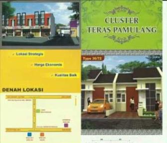 perumahan murah terbaru cluster teras pamulang rumah