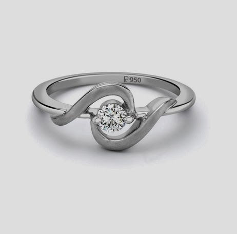 Single Diamond platinum ring for women by Suranas Jewelove, Jaipur