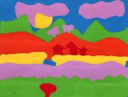 Paysage contre paysage (suite). Dessins de paysages sur cartes postales de . carte paysage copy