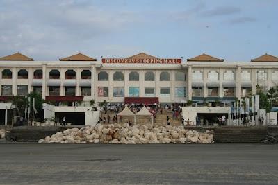 sunset beach-front mall