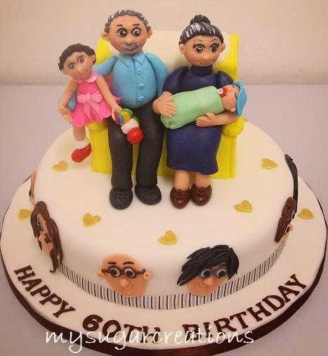 My Sugar Creations 001943746M 60th Birthday Vegetarian Cake