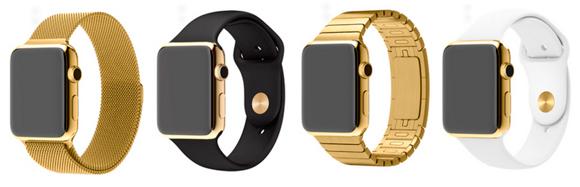 Apple Watch в золотом корпусе