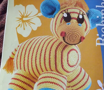 Zebrinha de Crochê para Criança - Bichinhos de Crochê