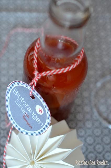 Blutorangen-Sirup mit Campari auf www.katharinakocht.com