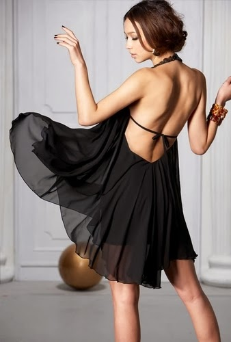 Sexy Backless Dress (Size Small)    5 available in Black