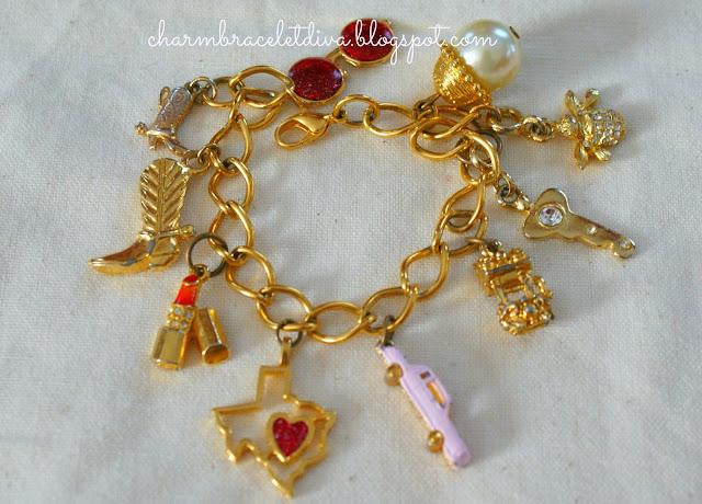 Vintage Texas charm bracelet