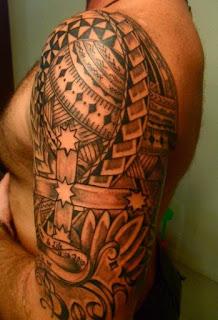 Tatouage Bras Homme Polynesien etoile