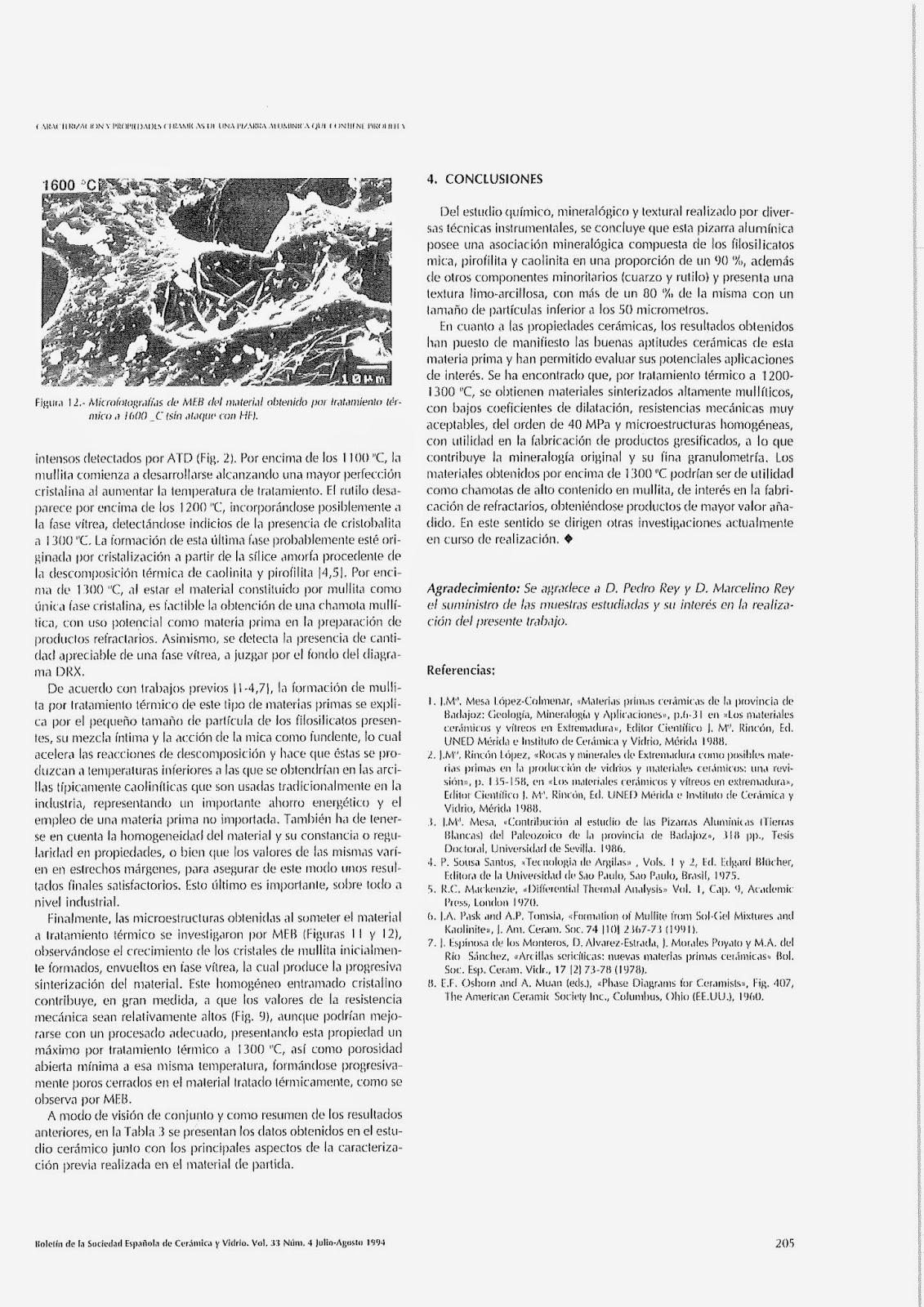 Geolog as de extremadura caracterizaci n y propiedades - Ceramicas sanchez ...