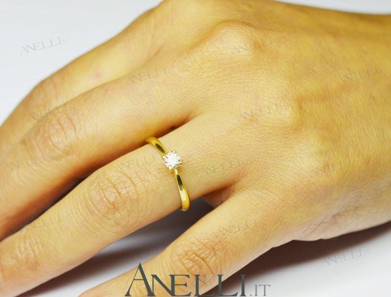 anello solitario oro giallo prezzi
