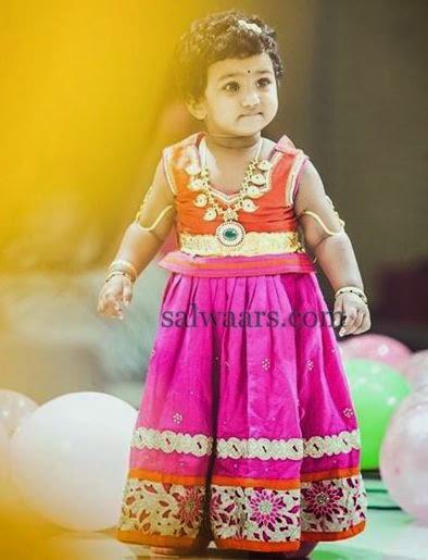 Baby in Pink Raw Silk Skirt