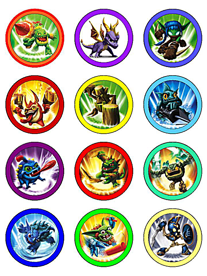 Tactueux image pertaining to skylanders printable