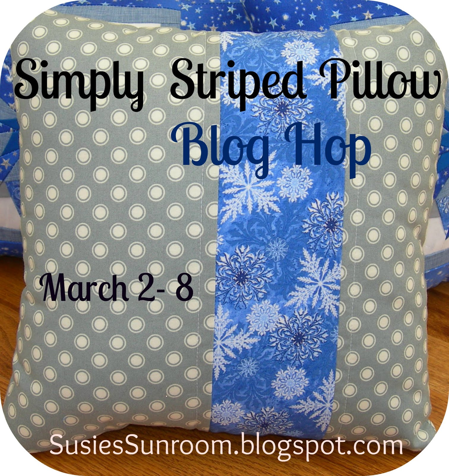 Simply Striped Pillow Blog Hop  March 2-8