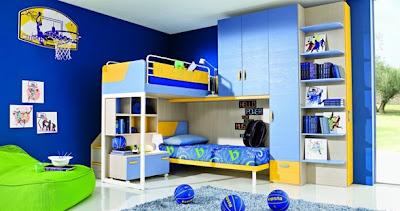 dormitorio litera para niños varones