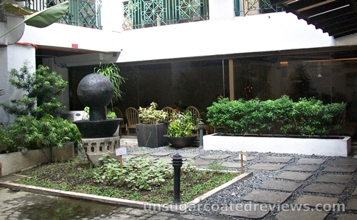 small garden outside the Center for Culinary Arts (CCA)-Manila USDA Theater