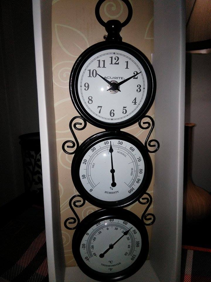 While Searching For A New Wall Clock, I Came Across This Beautiful Piece. My  Backyard Weather Station By Acurite. Right Away, It Reminded Me Of One My  Late ...