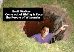 Scott Walker Hides from Wisconsin