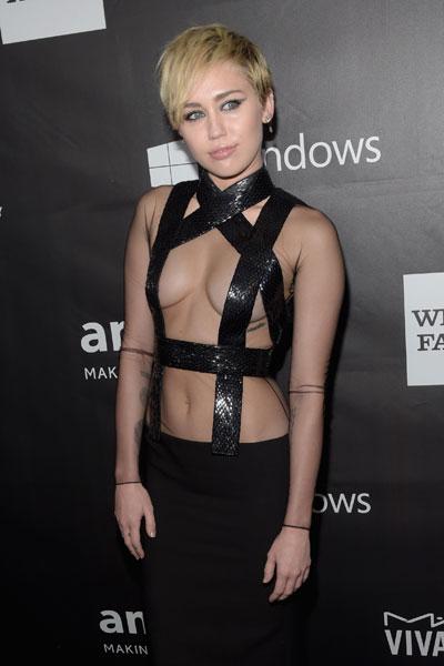 Miley Cyrus bold look