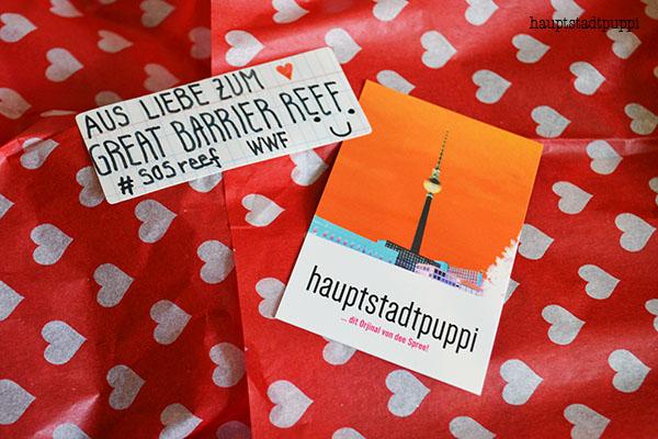 Hübsch verpackt mit Liebesbotschaft an den WWF Deutschland - Hauptstadtpuppi
