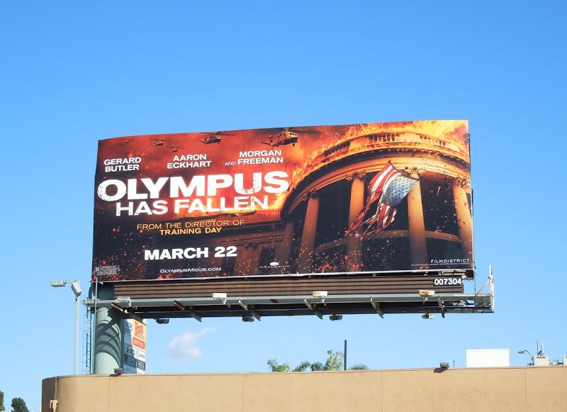 Olympus Has Fallen movie billboard