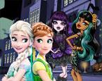 Elsa ve Monster High Kızları Yeni