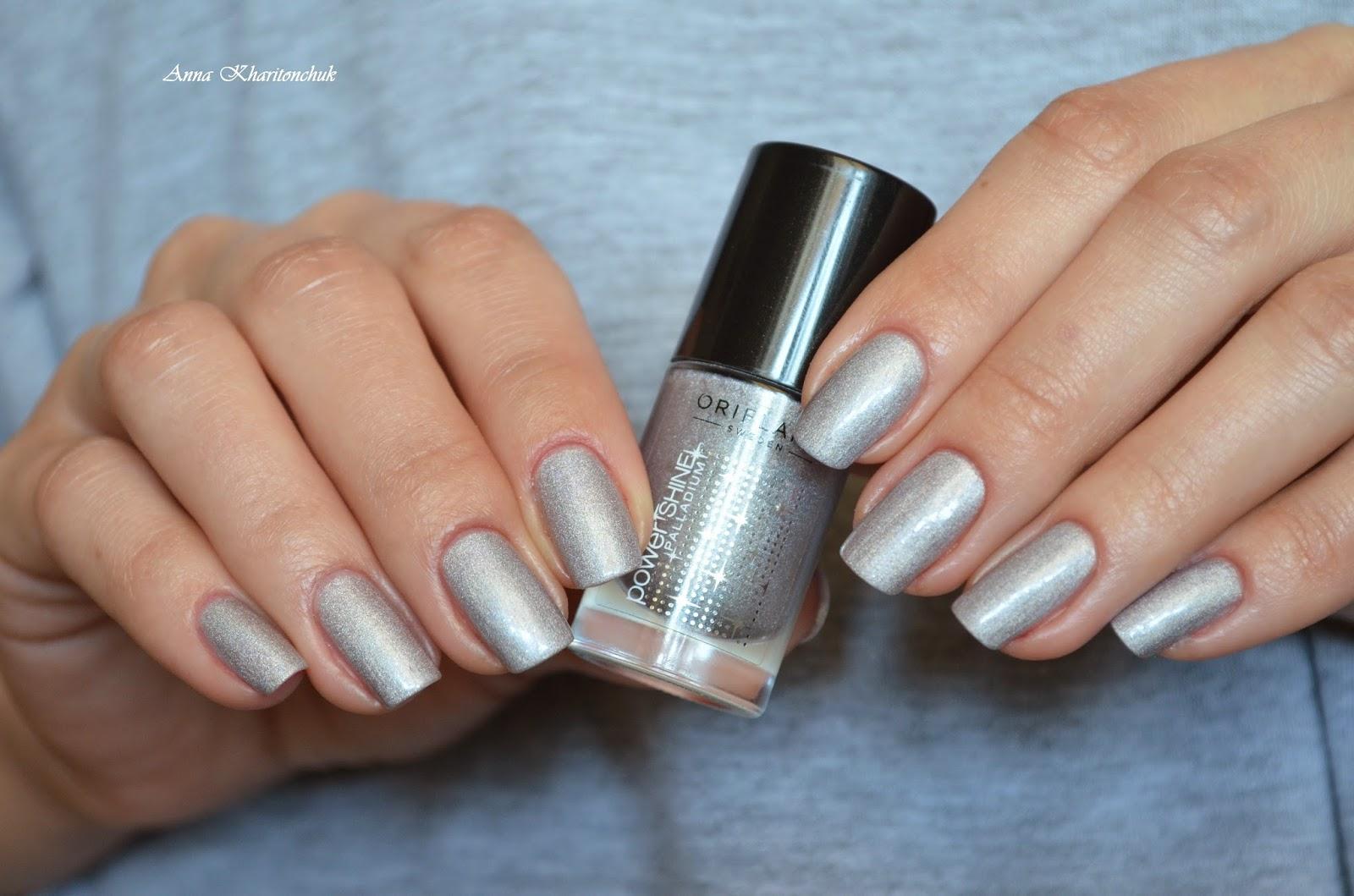 Oriflame Power Shine Palladium Reflecting Silver + стемпинг Lesly