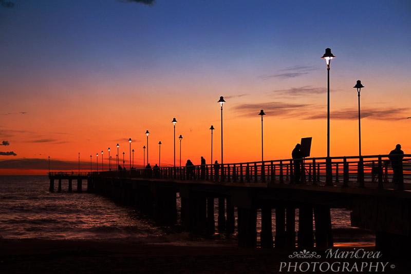 Marina di Massa tramonto sul molo