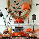 Sweet table Halloween Citrouilles & Chauves-souris