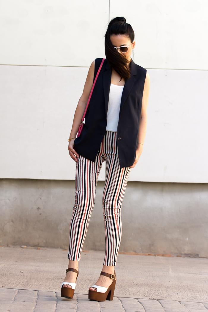 Moda en la calle blogger tendencia chalecos