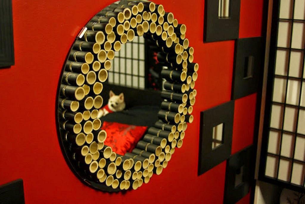 marco de espejo con cañas de bambú-eltallerdejazmin