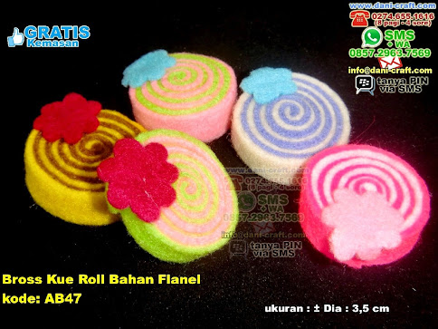 Bross Kue Roll Bahan Flanel Flanel