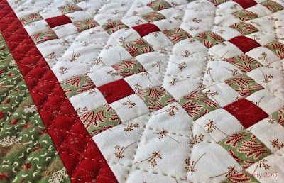 Hand quilting - cross hatch doll quilt swap