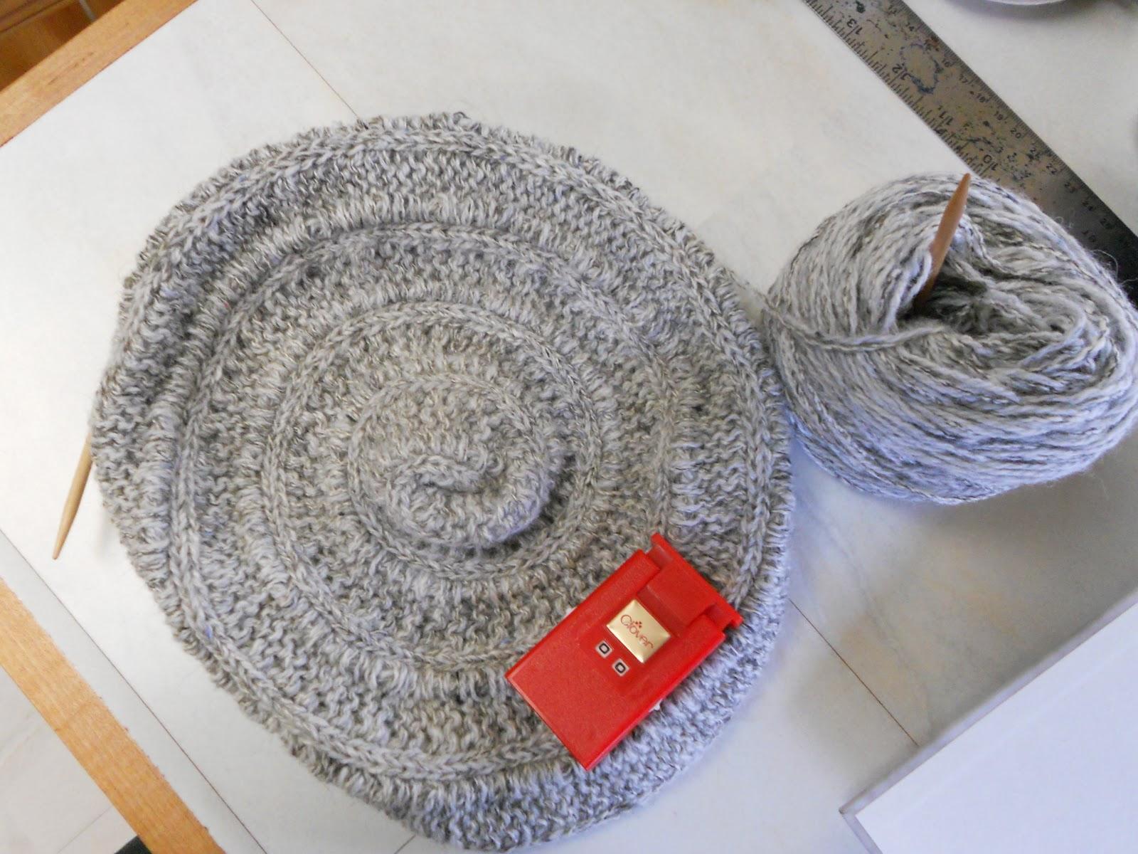 Nautilus Beret Knitting Pattern : As the Bunny Spins: Chambered Nautilus Saga