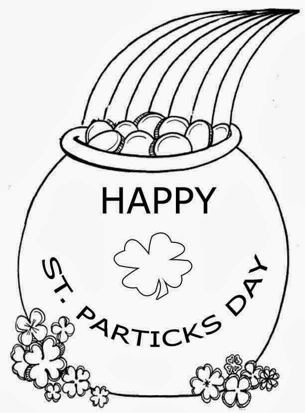 Happy Saint Patrick's Day for Coloring, part 1