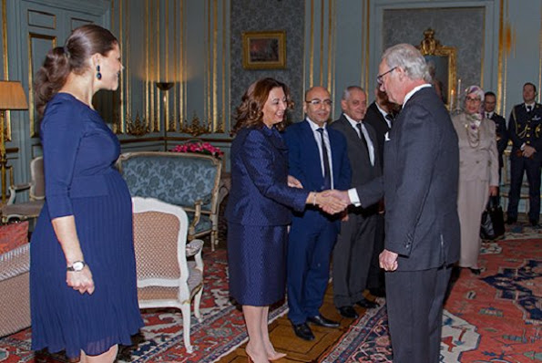 King Carl Gustaf and Crown Princess Victoria of Sweden received the Tunisian National Dialogue Quartet who was awarded the 2015 Nobel Peace Prize