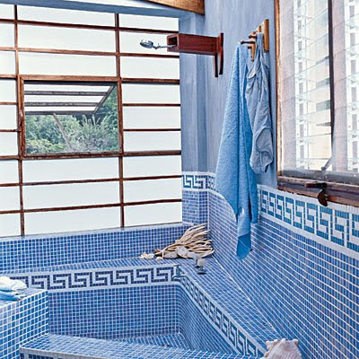 The blue house mental health getaway for Greek style bathroom design