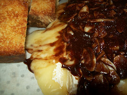 my chocolate almond baked brie...a match made in heaven