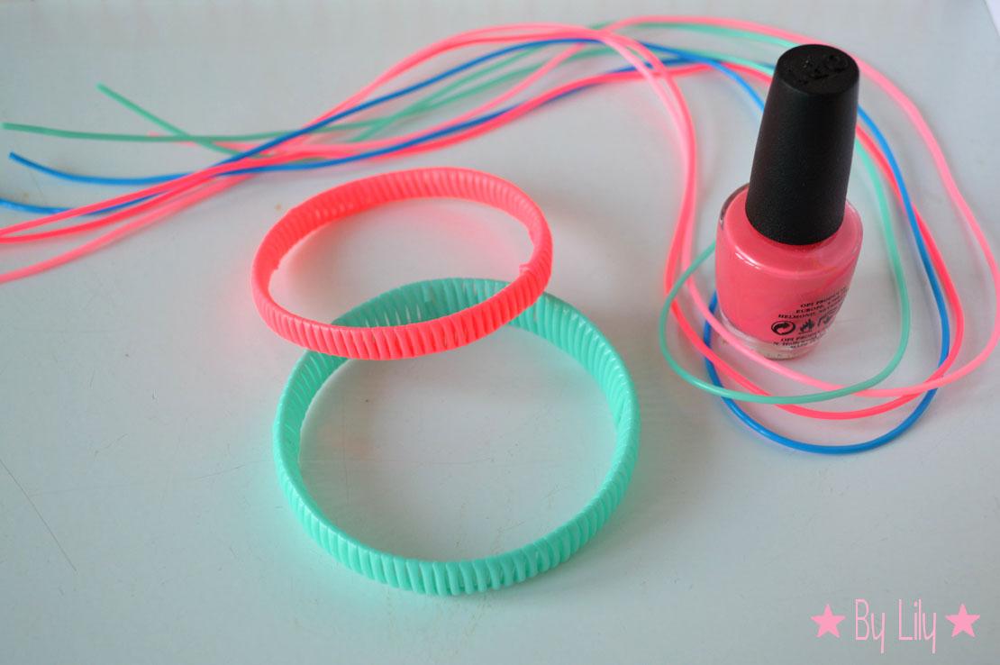 les bracelets neon en scoubidou bidou lily 39 s little factory blog diy bretagne. Black Bedroom Furniture Sets. Home Design Ideas