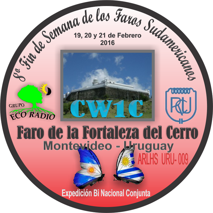 PIN Expedición Faro Fortaleza del Cerro de Montevideo - Uruguay URU 009