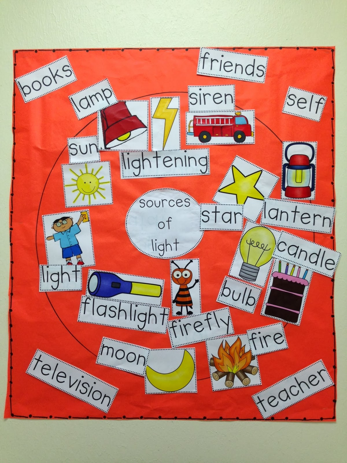 Chalk talk a kindergarten blog sources of light and rainbows for Energy games for kids