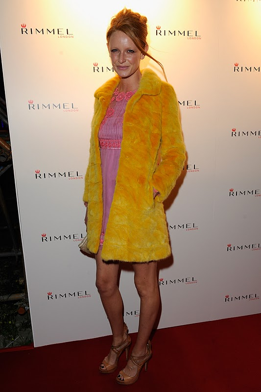 Love Olivia Inge's Yellow Fur Coat; Very Sixties With The Colour, A