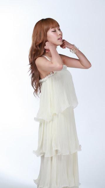 Im Min Young In Cream Ruffle Maxi Dress