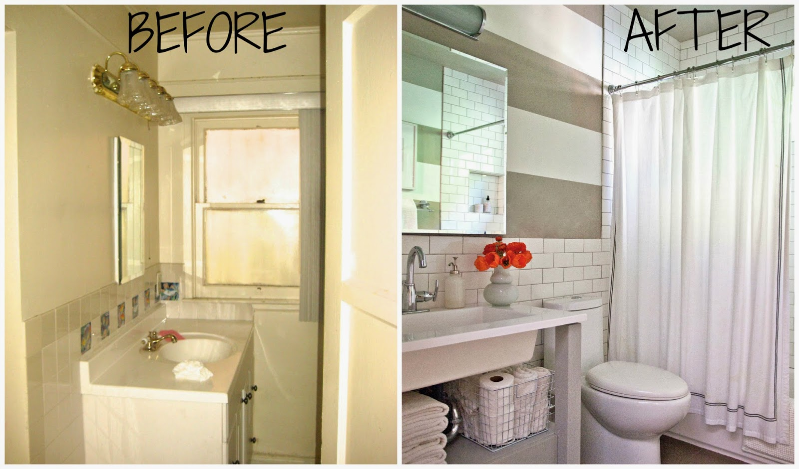 Rosa Beltran Design MY HOME TOUR PART THE BATHROOM AND PAINTED - 1960 bathroom remodel