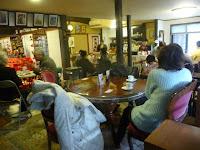 奥の和風喫茶店では美味しいコーヒーをいただいた。