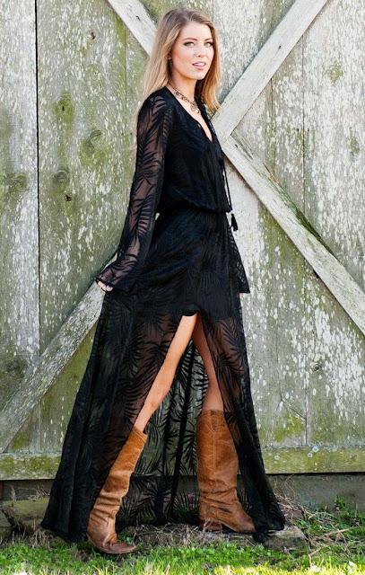 Black maxi dress with slit by Show Me Your Mumu
