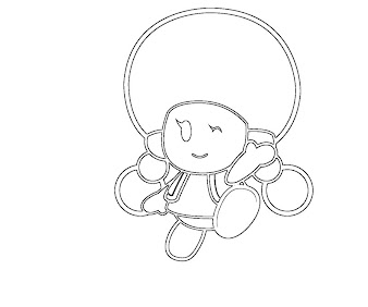 #8 Toadette Coloring Page
