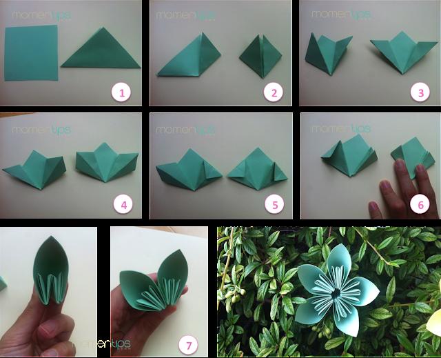 DIY flores con pétalos de papel