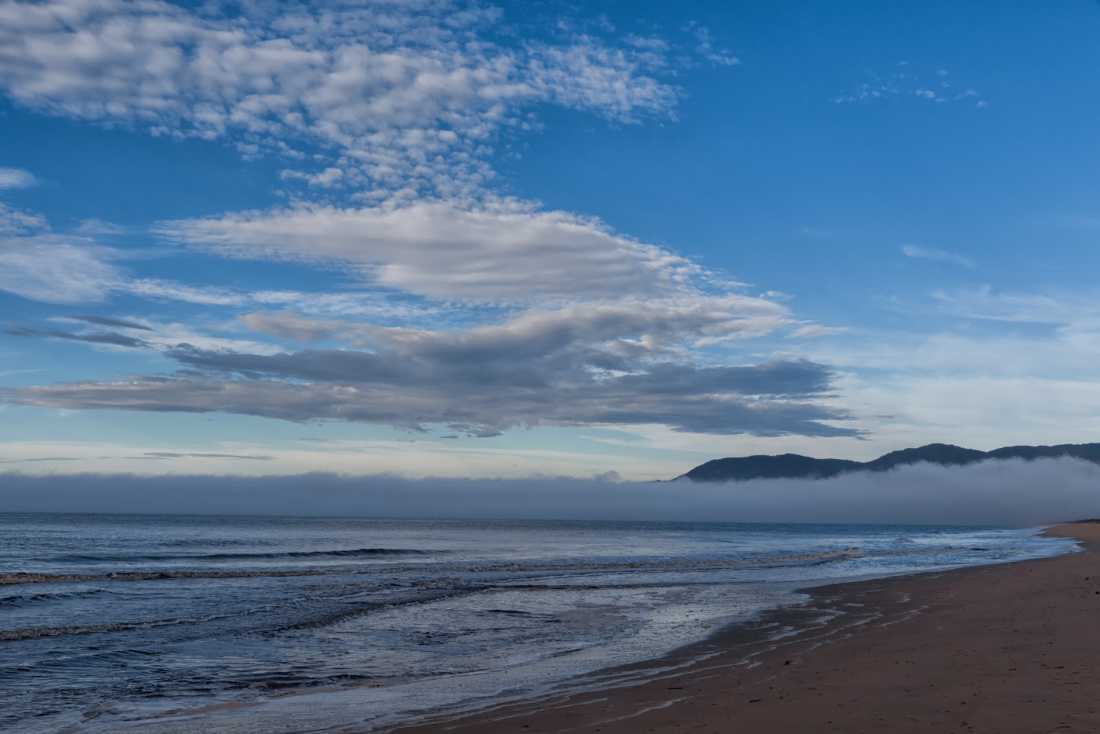ocean mist over five mile beach wilsons promontory