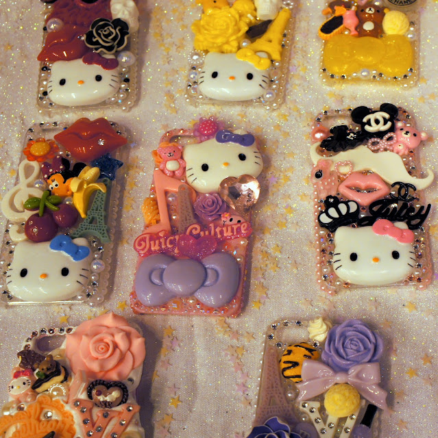 Hello Kitty phone covers at Hyper Japan, London 2013
