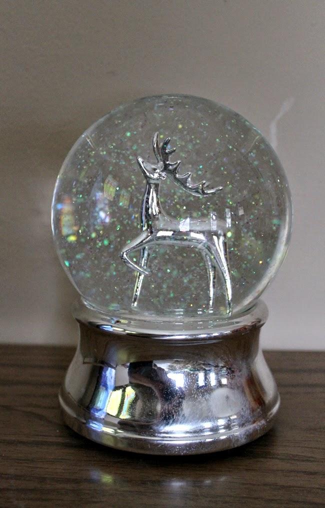 silver deer snow globe from Target 2008
