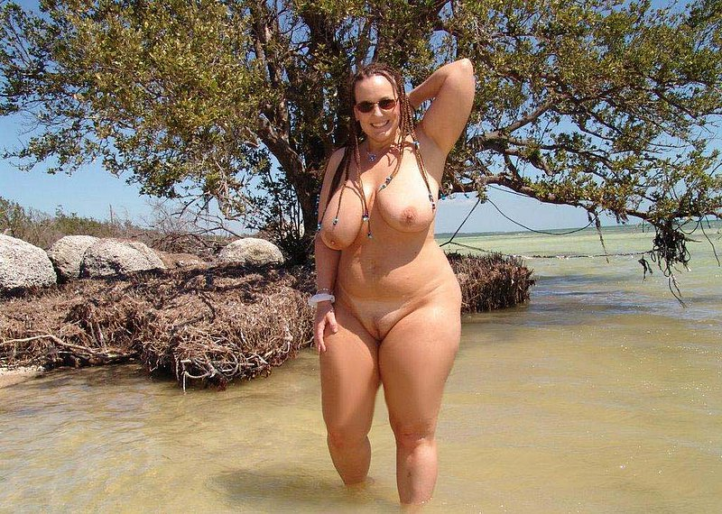 nude beach blonde chubby